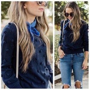 Sophie Rue Navy Pompom Sweater